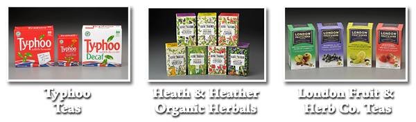 Order Typhoo, Heath & Heather, and London Fruit & Herb Company Teas